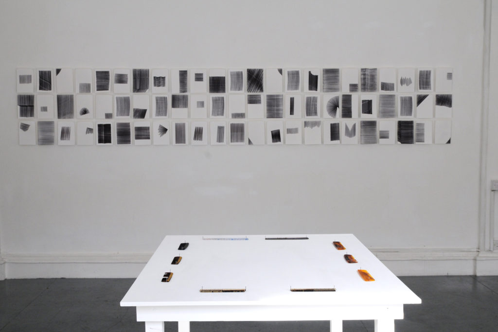 Jigsaws, combs and rulers installation, 2014, Eight Gallery, Dublin