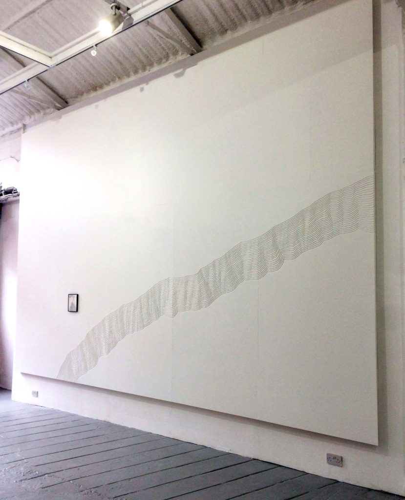 A Rhythm Exposed, 2017, wall relief, 24 x 14 ft, installation view at Mart Gallery, Dublin