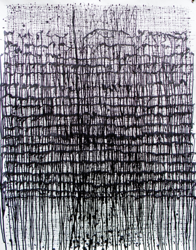 Curtain, 2015, ink on paper, 97 x 76 cm
