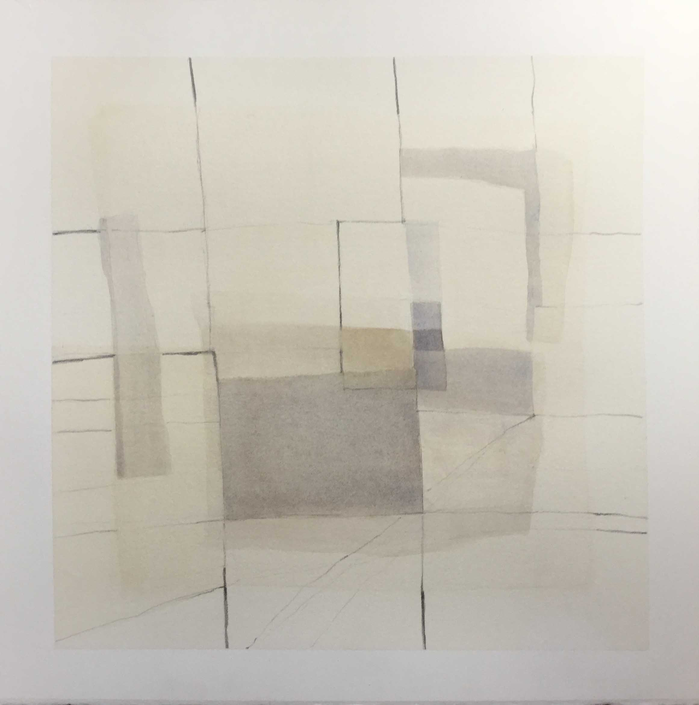 Esquinas Borrados I, 2016, watercolour and pencil on paper, 42 x 42 cm
