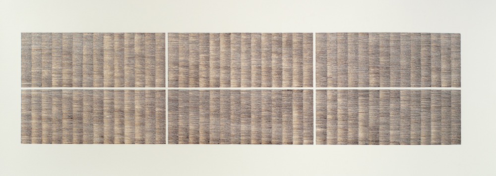 Susan MichieFor a Composer, 2014, sepia ink on paper, 54 x 135 cm (framed)