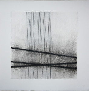 JS Bach, No 33, 2011, graphite, charcoal and mixed media, 45 x 45 cm