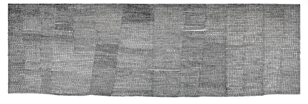Memento Mori, 2002, ink on paper, 86 x 201 cm