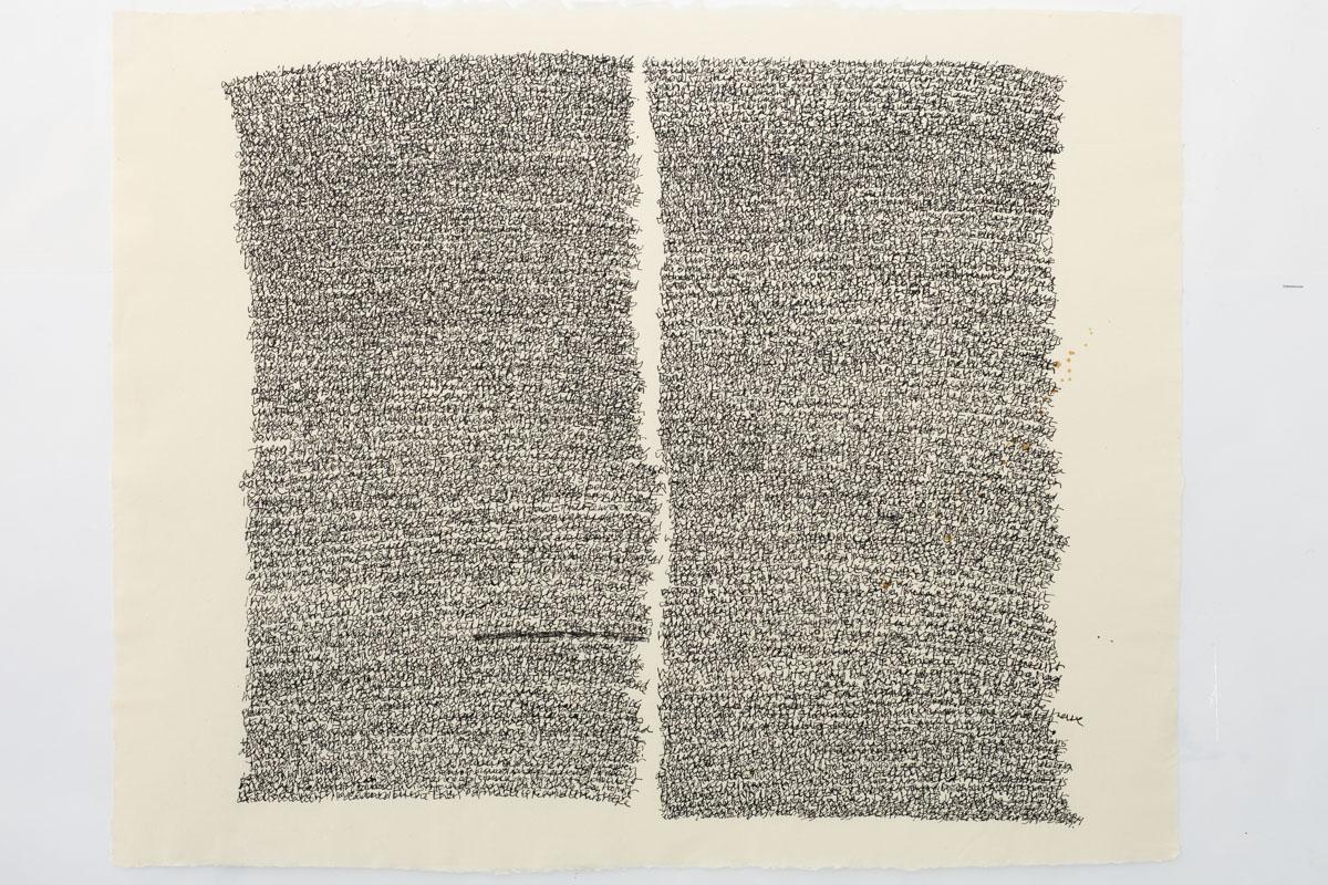 Misunderstanding (1), 2016, Indian ink on paper, 59 x 72 cm
