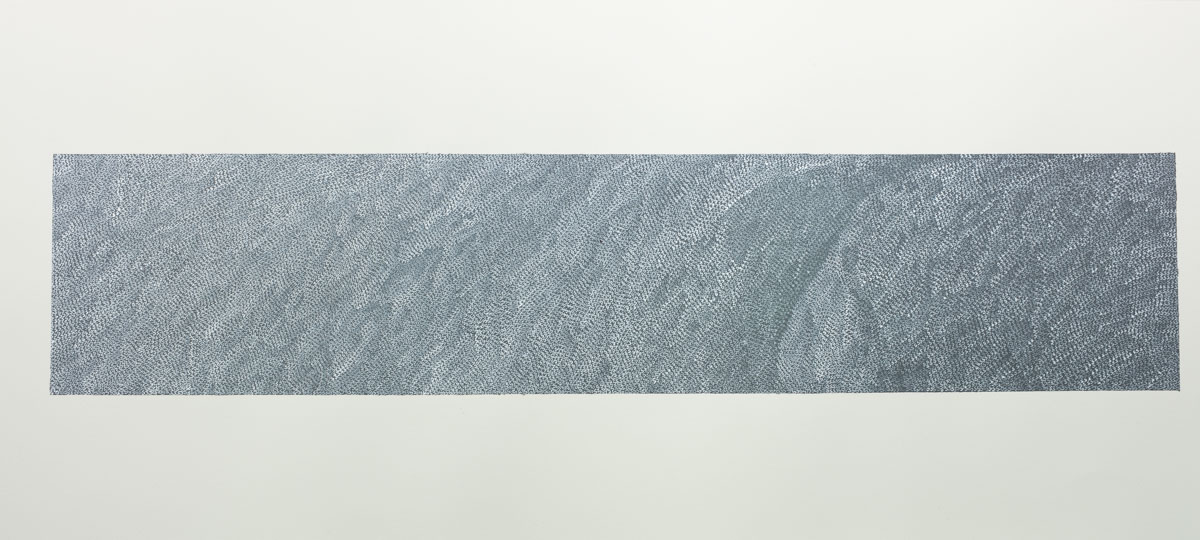 Repeating S, 2016, acrylic on paper, 56 x 137 cm