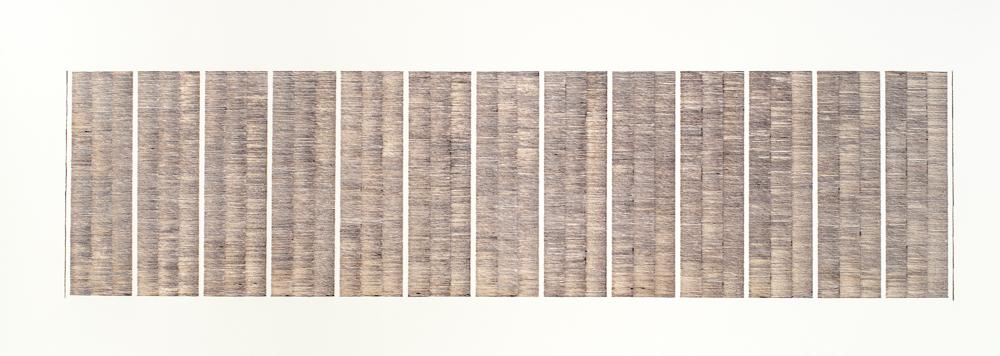 For a Poet, 2014, sepia ink on paper, 54 x 135 cm (framed)