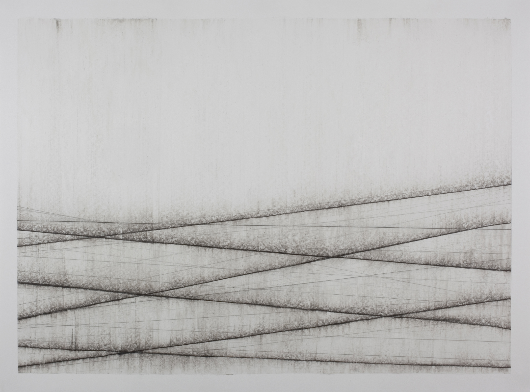 Rain Washed Horizon, 2011, pencil on paper, 101 × 137 cm