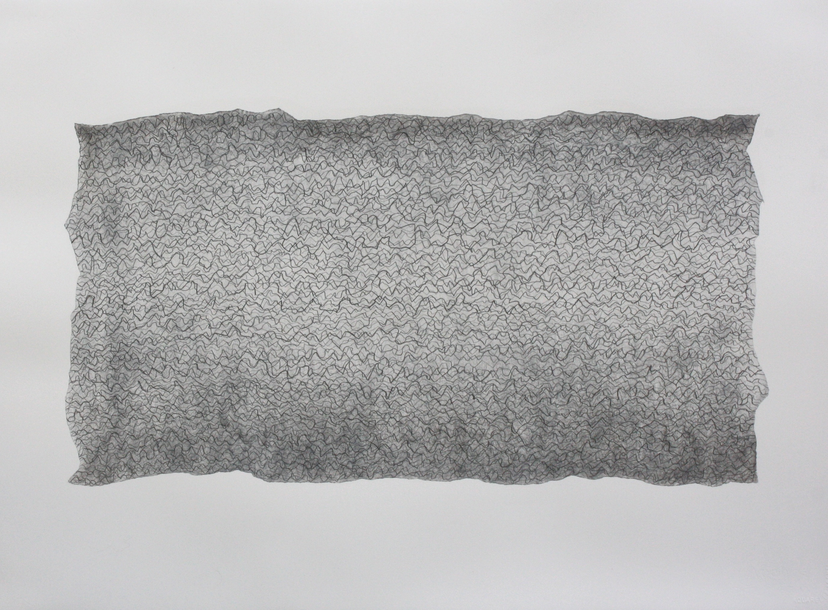 John Cage in a Landscape 1948, No 4, 2014, graphite, charcoal, chalk and wax, 56 × 76 cm