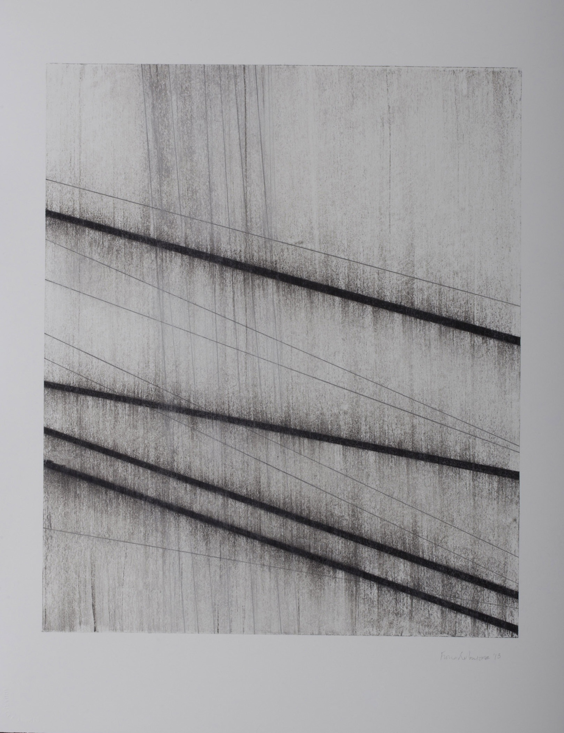 Partita 3, 2012, charcoal, graphite, chalk and wax on Arches HP 300g, 76 × 56 cm