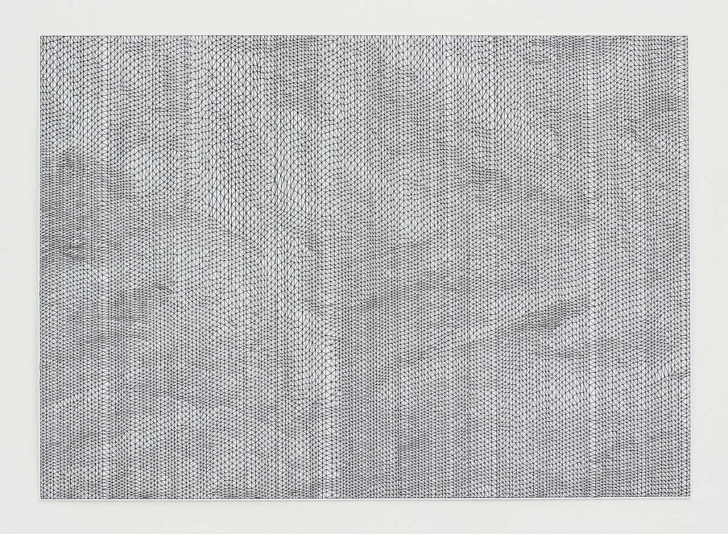 Parallel/Bend no 1, 2013, light-fast Indian ink on paper, 50 × 70 cm