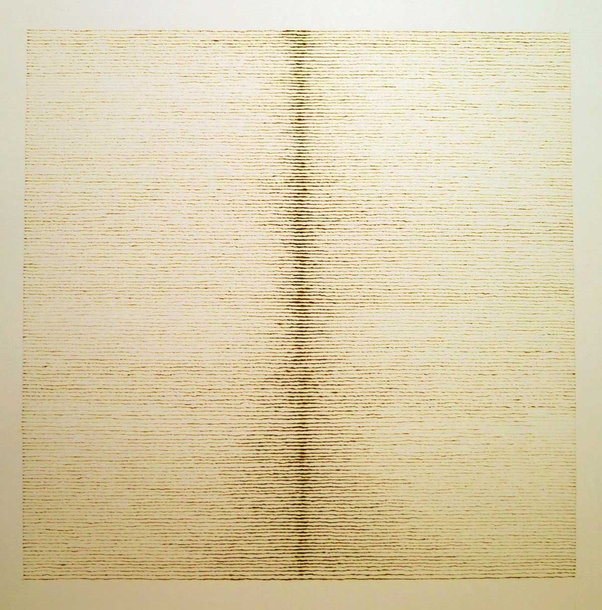 Burning Light, The Heat of the Day, 2015, burnt line drawing on paper, 30 x 30 cm