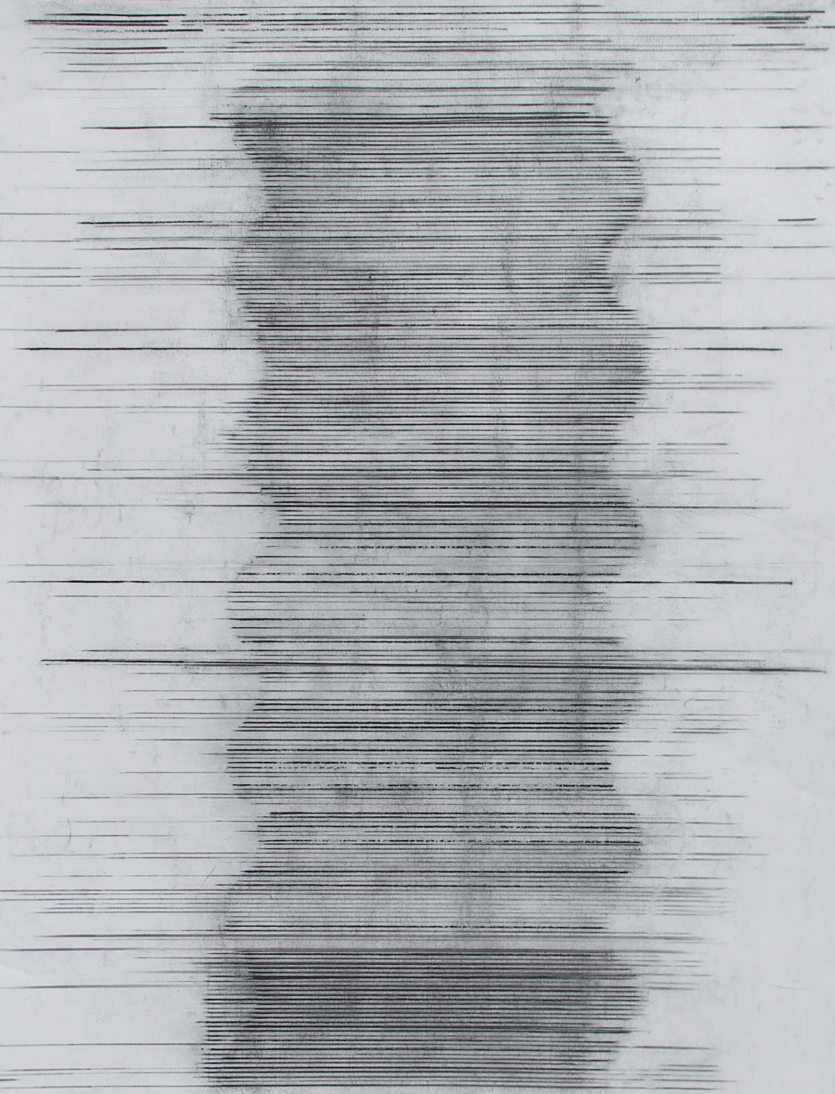 Touch 3, charcoal on paper, 128 x 94 cm