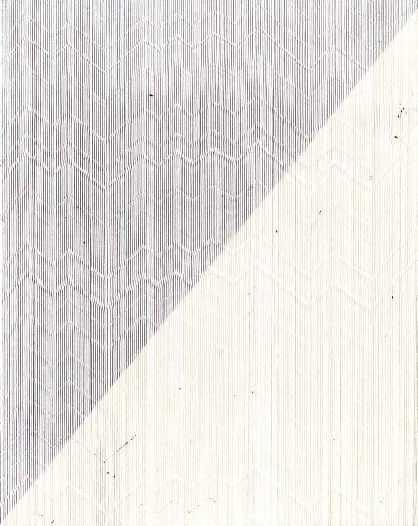 Annica 1, 2015, pen on paper exposed to light, 20.3 x 25.4 cm