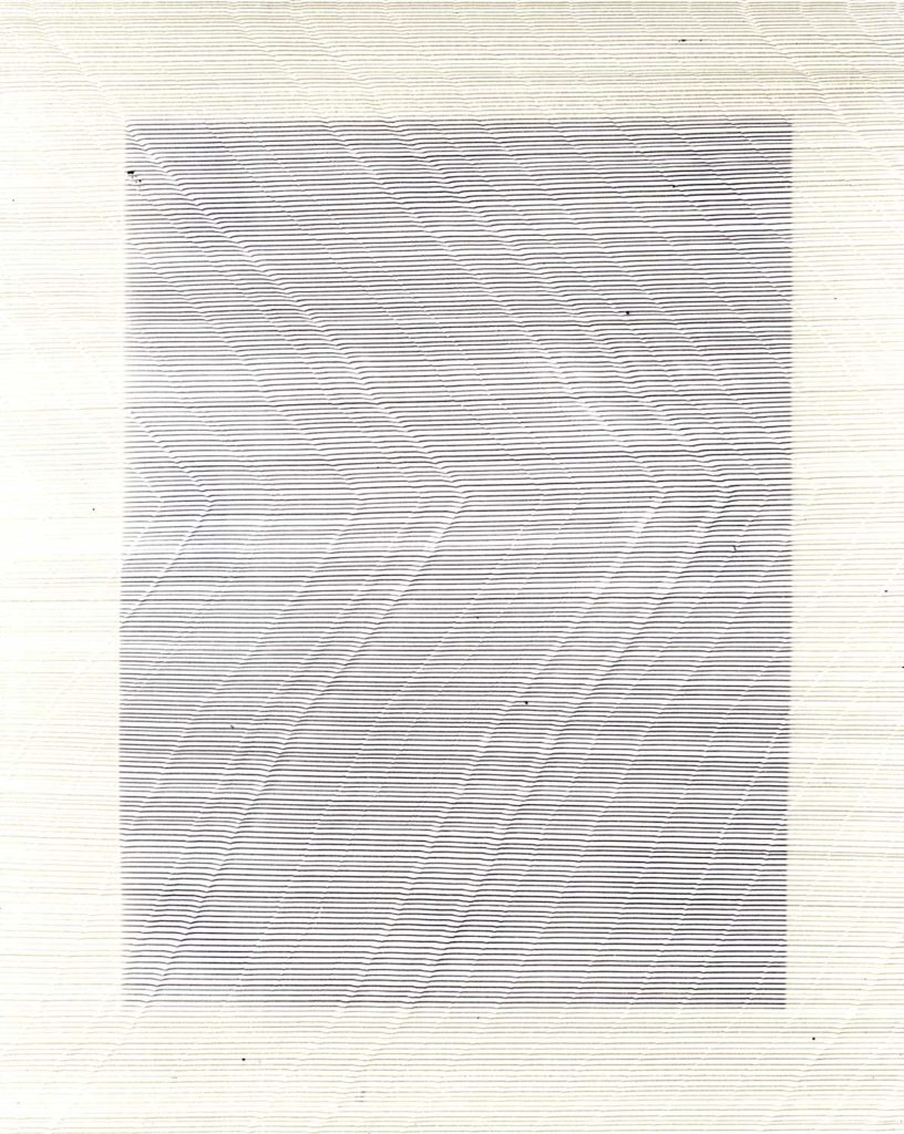 Annica 9, 2015, pen on paper exposed to light, 20.3 x 25.4 cm