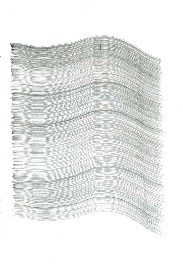 Untitled drawing (Synthesis no 12), 2013, pencil on paper, 21 x 14.8 cm