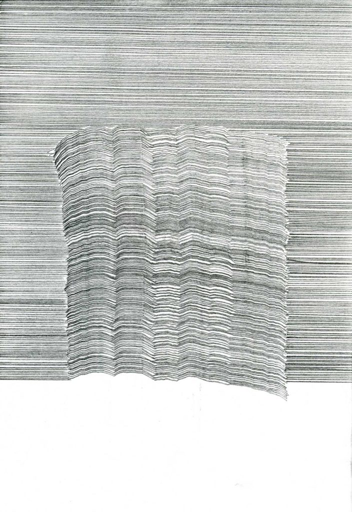 Untitled drawing (Synthesis no 13), 2013, pencil on paper, 21 x 14.8 cm