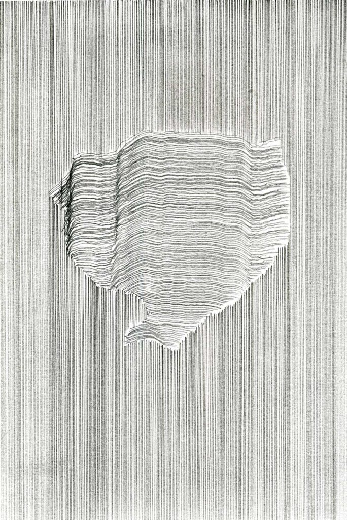 Untitled drawing (no 14), 2013, pencil on paper, 21 x 14.8 cm