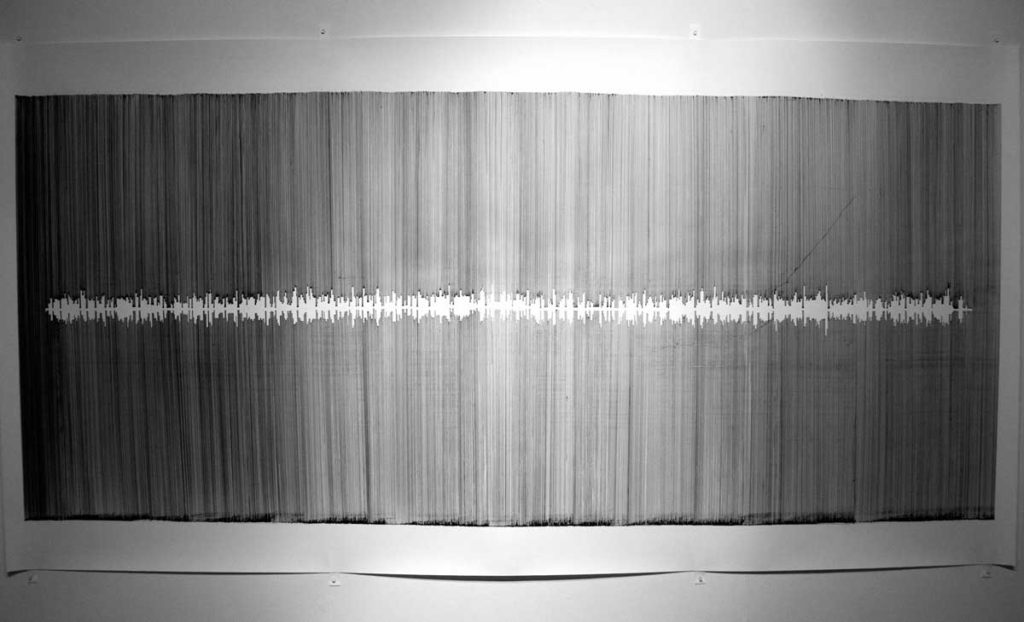Double Speak (no 2), 2013, pen on paper, 150 x 270 cm