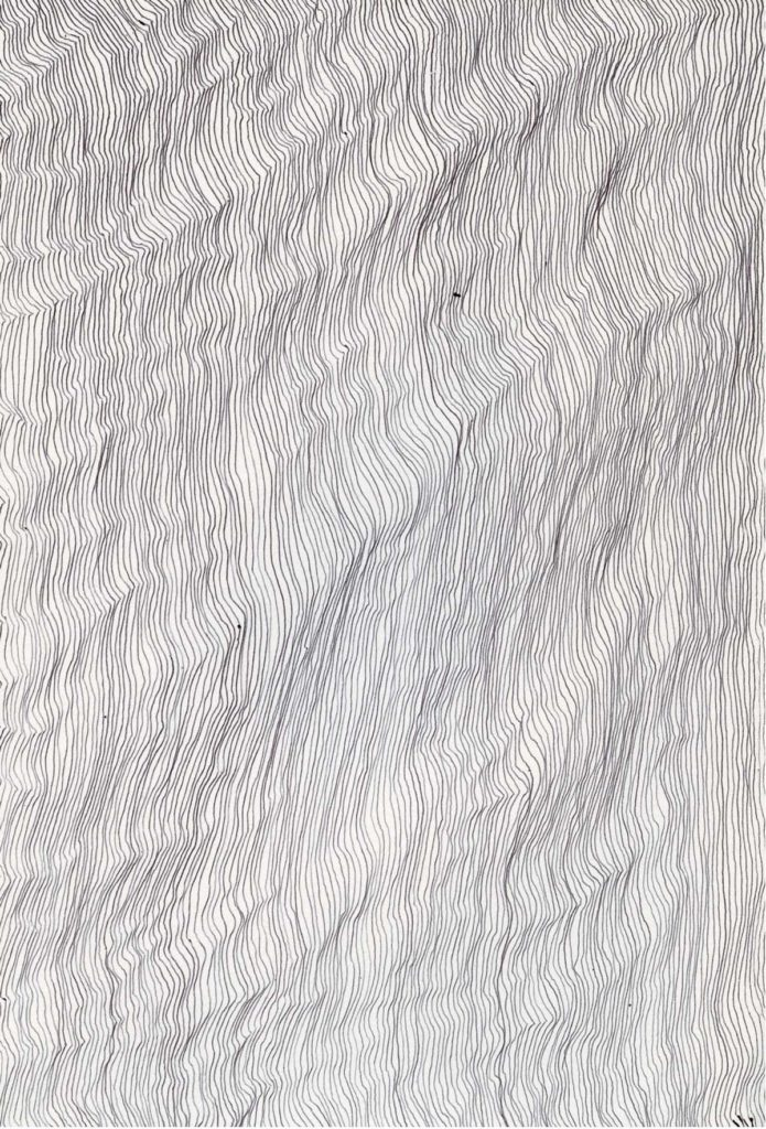 Untitled drawing (Synthesis, no 8), 2013, pencil on paper, 21 x 14.8 cm