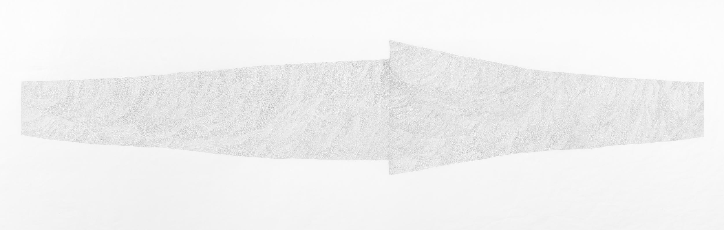 <em>Both Ways</em>, pencil on design paper, 66 x 198 cm