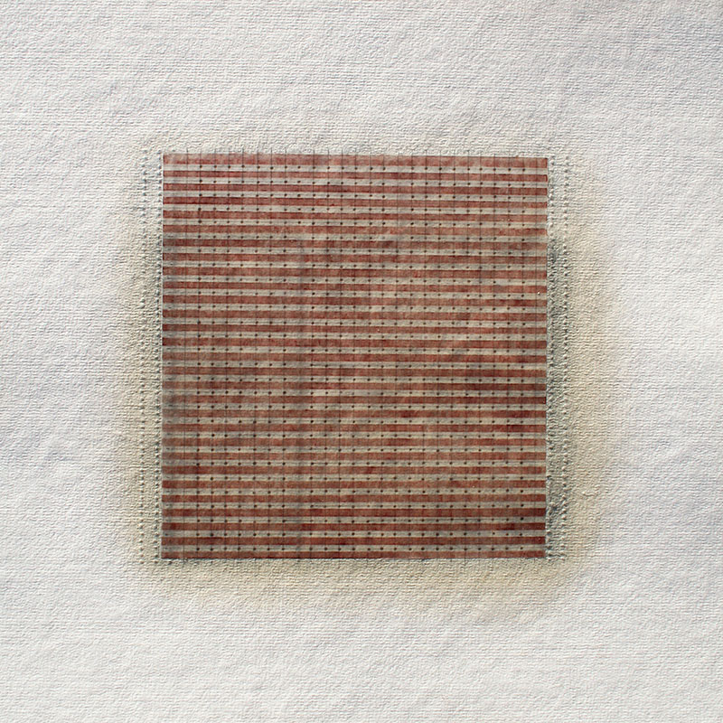 Reflections on Parallels #15, 2016, watercolour, waxed Asian paper, oil and pencil on cotton paper, 33 x 33 cm