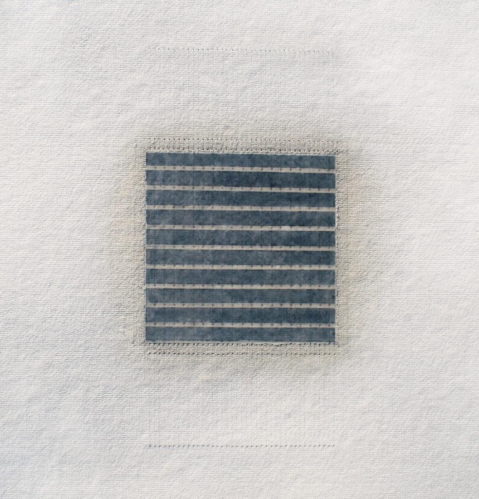 Sequel #6, 2014, watercolour, oil bar and pencil on cotton paper, 38 x 38 cm