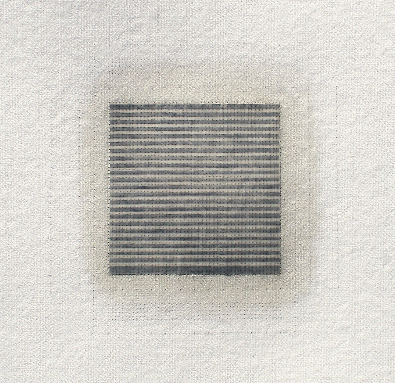 Sequel #7, 2014, watercolour, waxed Asian paper, oil and pencil on cotton paper, 57 x 57 cm